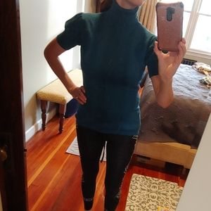 Two blue tops